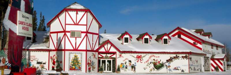Santas house in North Pole, Alaska